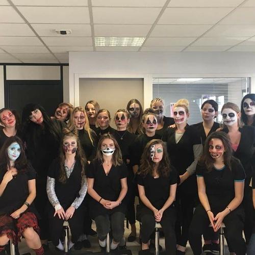 Maquillage HALLOWEEN pour les élèves de l''école d''esthétique à Plérin (22)